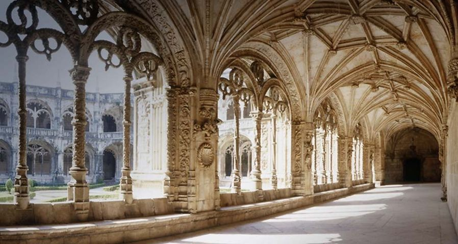 The Cloister of the Monastery of the Hieronymites  in Lisbon, Portugal