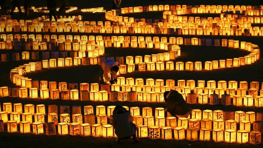「追悼の絵灯篭」宮城県, 名取市