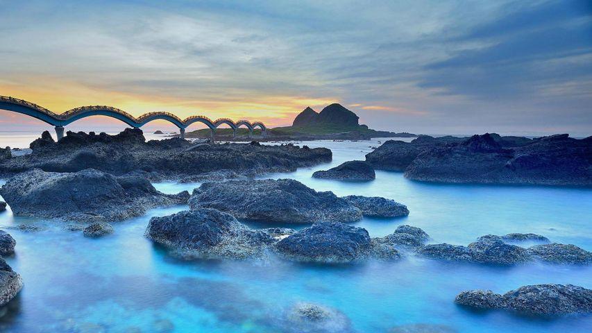 Le pont dragon de Sanxiantai, Taïtungn, Taïwan