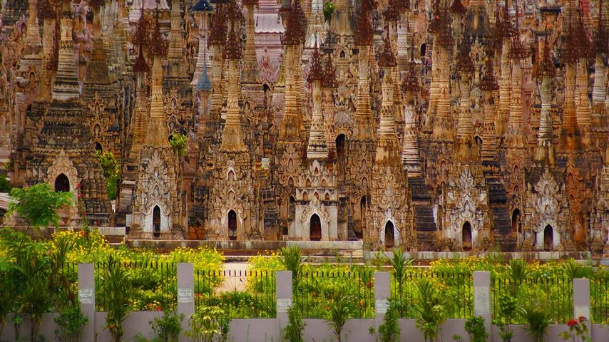 Stupas in Kakku, Shan State, Myanmar