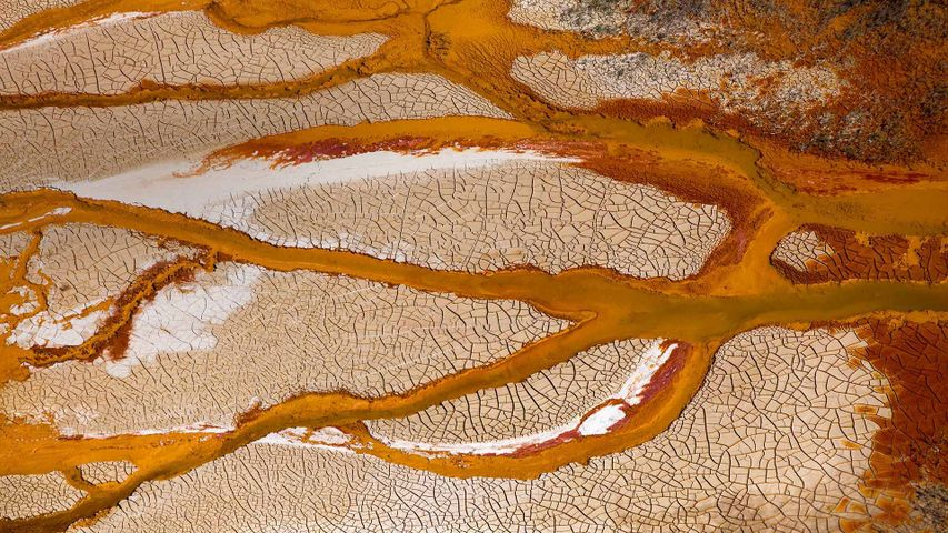 Channels of the Rio Tinto in Spain