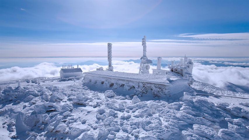 The Mount Washington Observatory in New Hampshire, USA