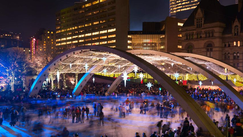 Ice rink at Nathan Phillips Square, Toronto