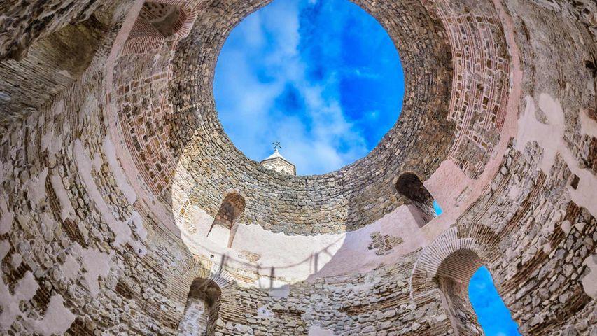 Vestibül des Diokletianpalastes in Split, Kroatien