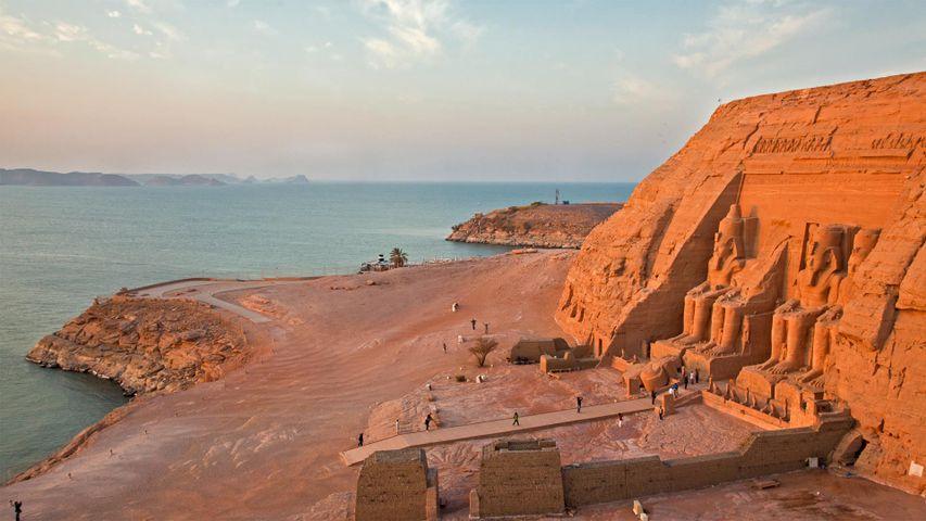 「アブ・シンベル神殿」エジプト, ナセル湖