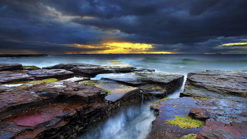 Coledale Beach near Wollongong in NSW, Australia