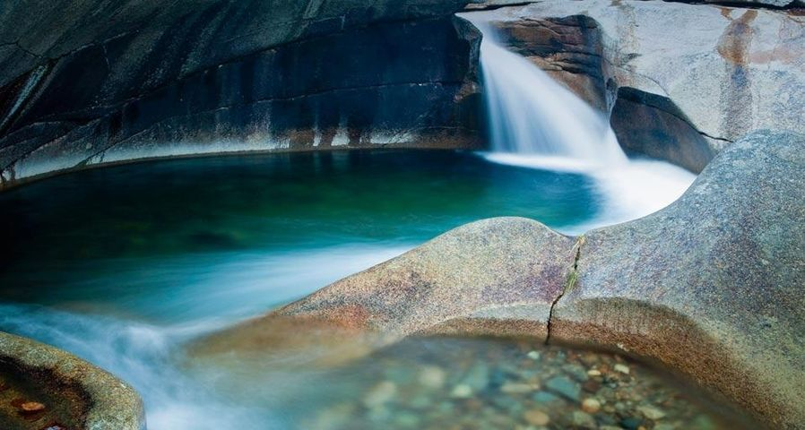 The Basin in Franconia Notch State Park, New Hampshire, U.S.A.