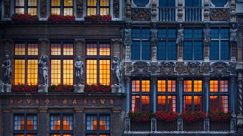 Häuserfassaden am Grand Place, Brüssel, Belgien