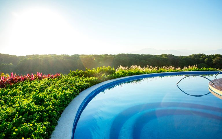 sky outdoor water swimming pool plant pool