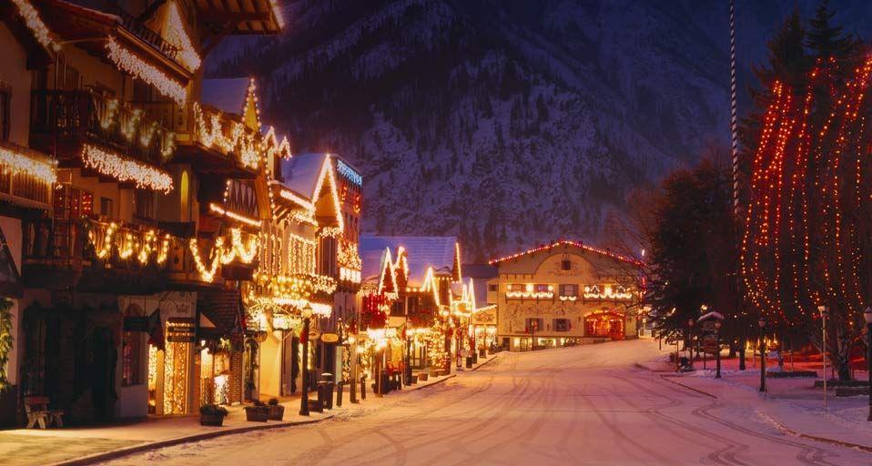 Leavenworth Washington Christmas.Christmas Lighting Festival In The Bavarian Style Village Of