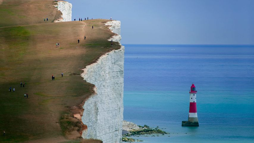 Cliffs and lighthouse at Beachy Head, East Sussex, England