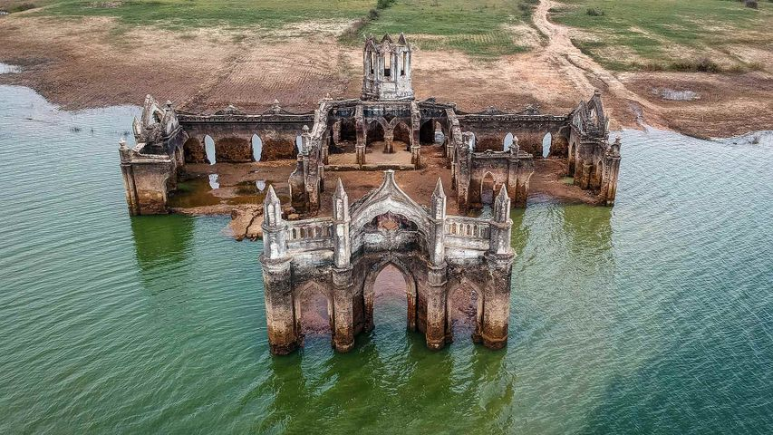 Ruins of Shettihalli Rosary Church in Karnataka, India