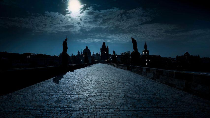 Karlsbrücke über die Moldau in Prag, Tschechische Republik