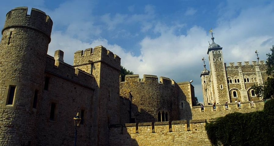 A close-up of the Tower of London, London