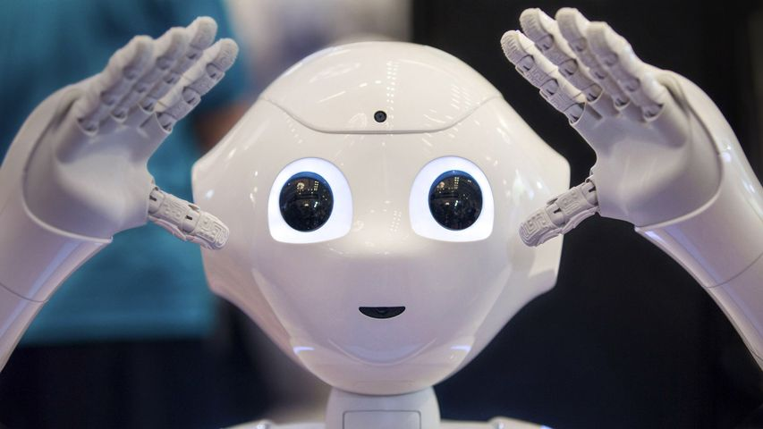 Pepper, SoftBank Robotics' humanoid robot, on display in Tokyo