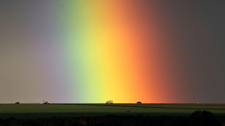 Regenbogen in der Nähe von Bad Langensalza, Thüringen