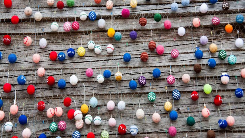 Easter decorations at Alexanderplatz, Berlin
