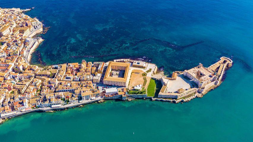 Ortygia, a small island off the coast of Syracuse, Sicily, Italy