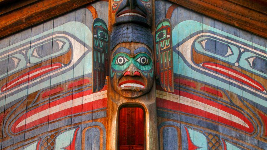 The Clan House at Totem Bight State Historical Park near Ketchikan, Alaska