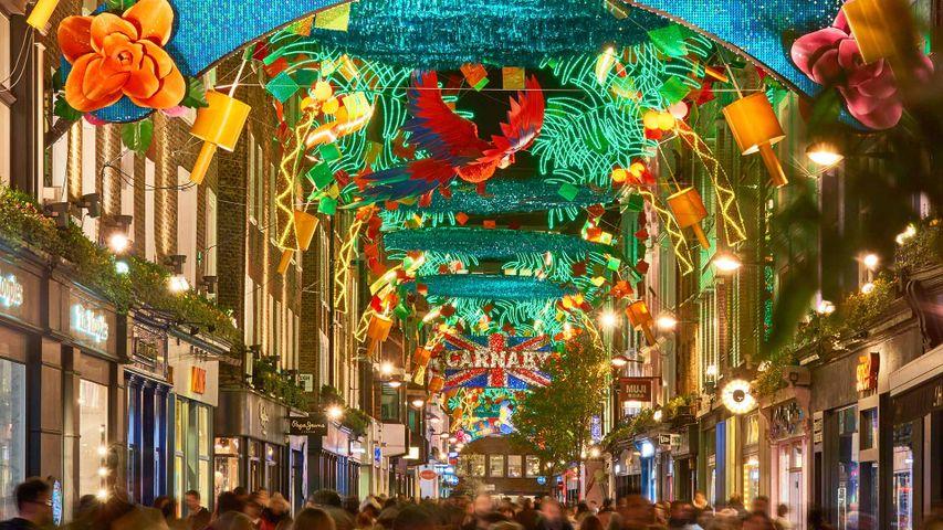 Christmas lights in Carnaby Street, London