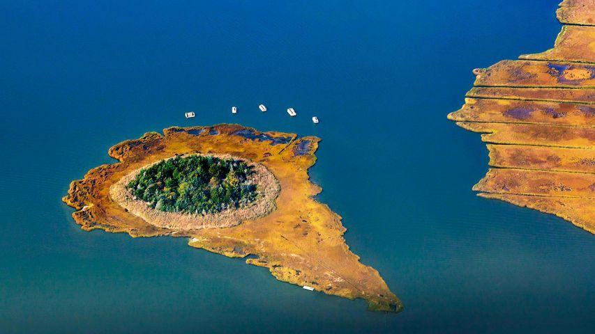Reedy Island in Moneyboque Bay, Long Island, New York