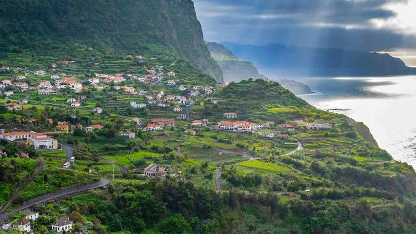 The north coast of Madeira, Portugal