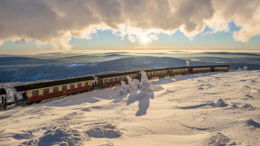 Brockenbahn im Nationalpark Harz, Sachsen-Anhalt, Deutschland