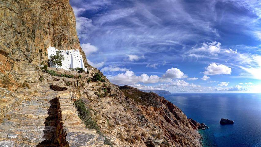 阿莫尔戈斯岛上的霍佐维奥蒂萨修道院,希腊