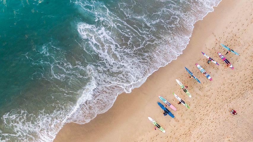 Surfers at Bronte Beach, Australia