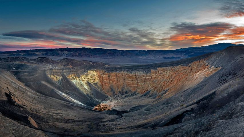 Ubehebe Crater in Death Valley National Park, California, USA