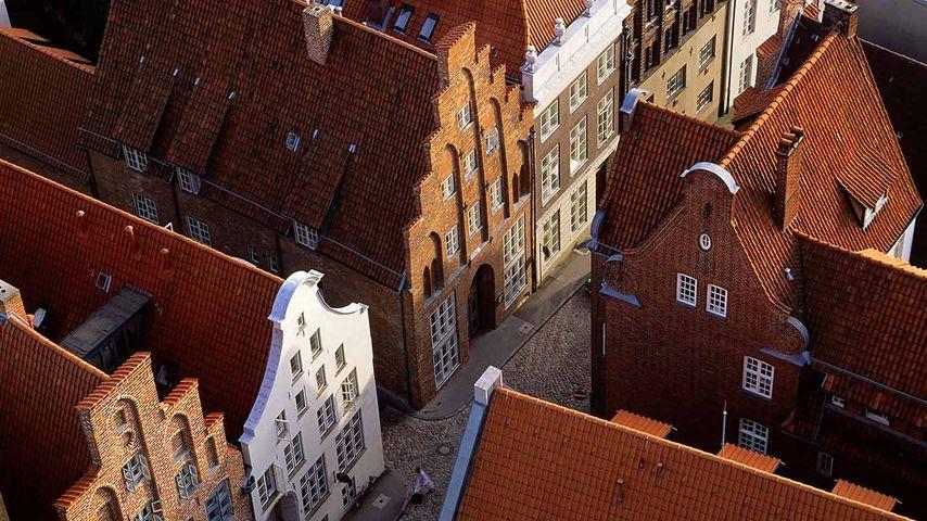 Giebelhäuser, Lübeck, Schleswig-Holstein, Deutschland
