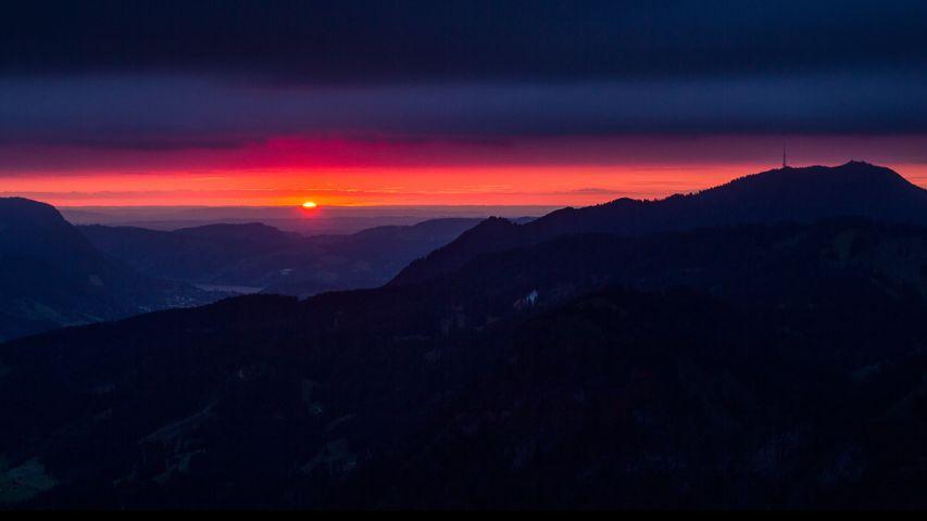 sky outdoor mountain cloud sunset landscape nature sunrise