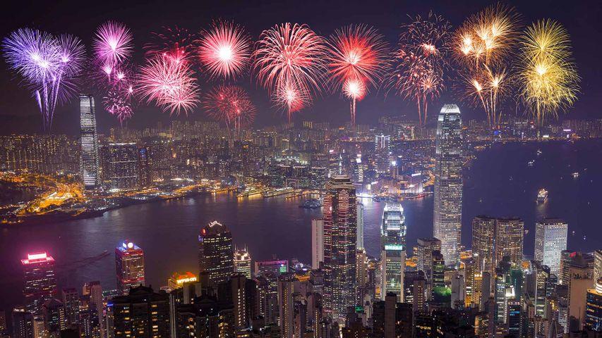 【今日除夕】璀璨烟花迎新年,中国香港
