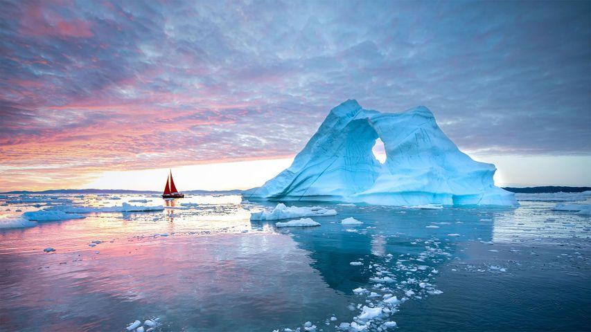 Iceberg en la bahía de Disko, Ilulissat, Groenlandia