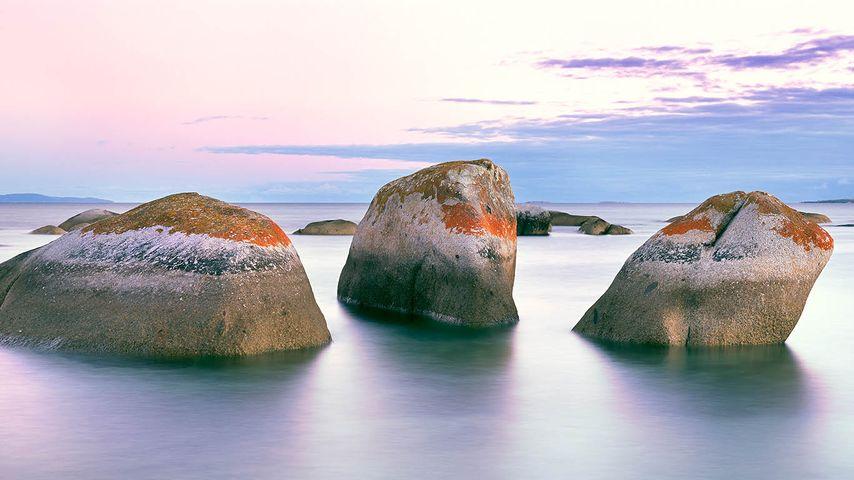Granite rocks off Flinders Island, Tasmania, Australia