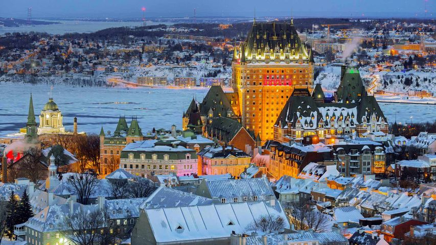View of the Old City in Quebec City, Canada