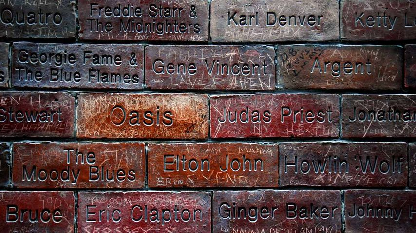 Music Wall of Fame, Mathew Street, Liverpool