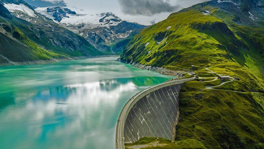 Mooserboden Reservoir and Mooser Dam near Kaprun, Austria