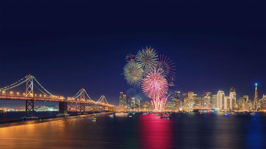 Fireworks in San Francisco, California