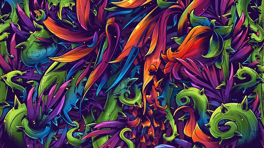 painting drawing art colorful graffiti cartoon psychedelic art fractal art