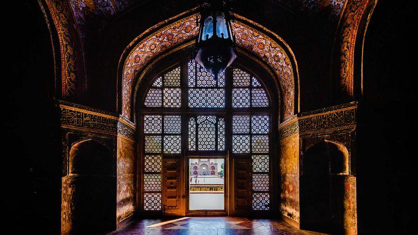 Akbar's tomb at Sikandra near Agra