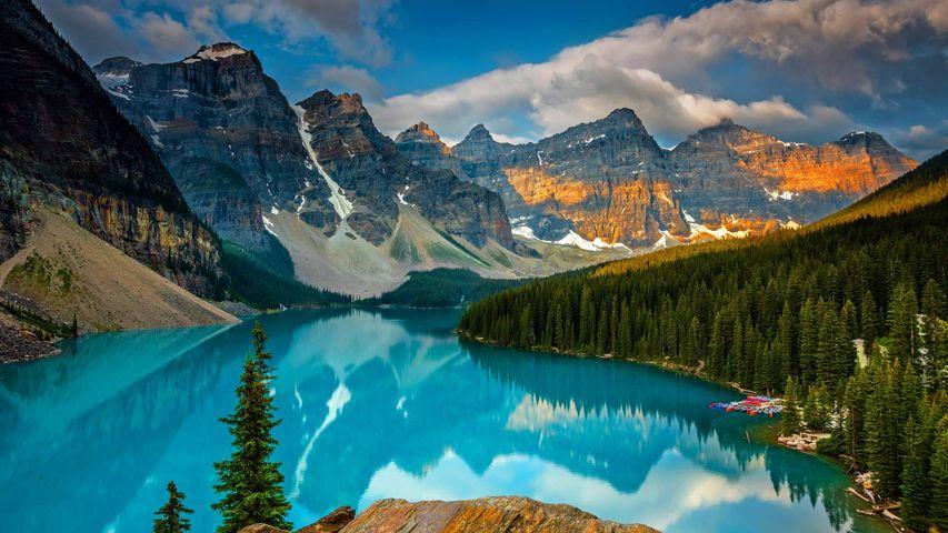 「モレーン湖」カナダ, バンフ国立公園