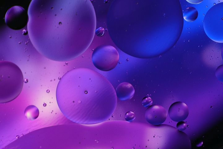 indoor drop screenshot bubble water electric blue abstract purple