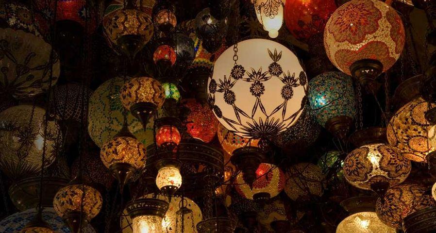 Lanterns in the Grand Bazaar, Istanbul, Turkey