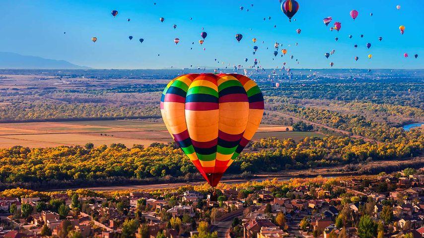 「アルバカーキ国際気球フェスティバル」アメリカ, ニューメキシコ州