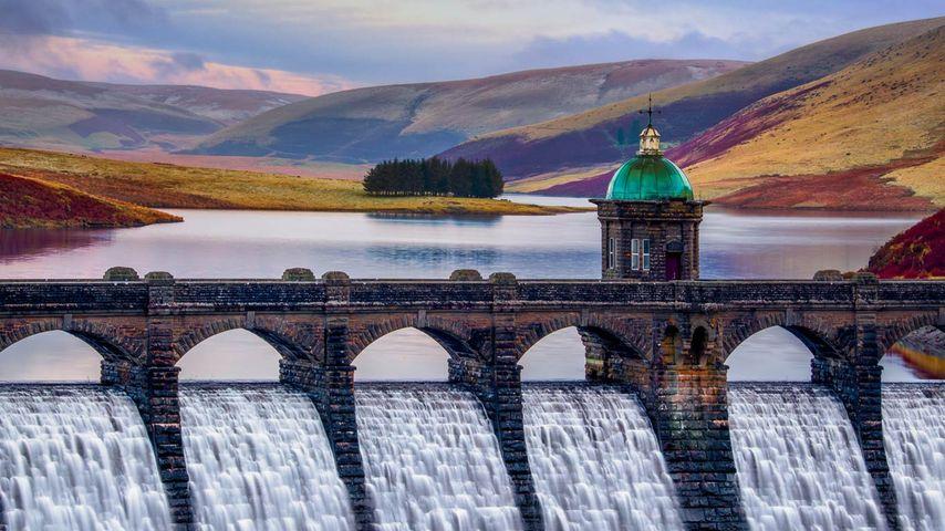 Craig Goch Dam in the Elan Valley, Wales