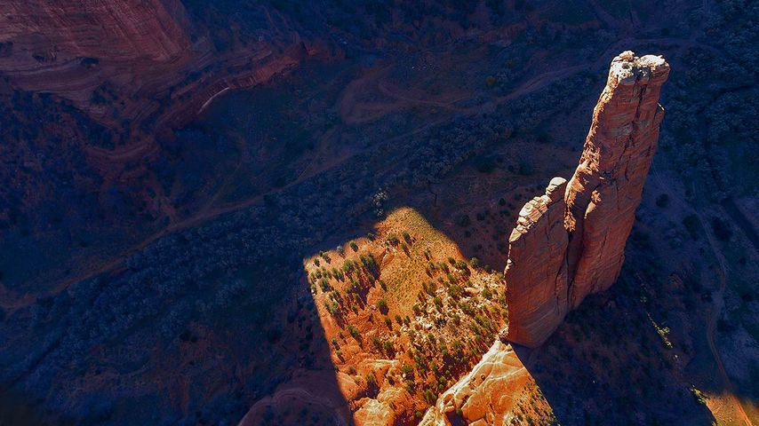 Spider Rock in Canyon de Chelly National Monument, Arizona