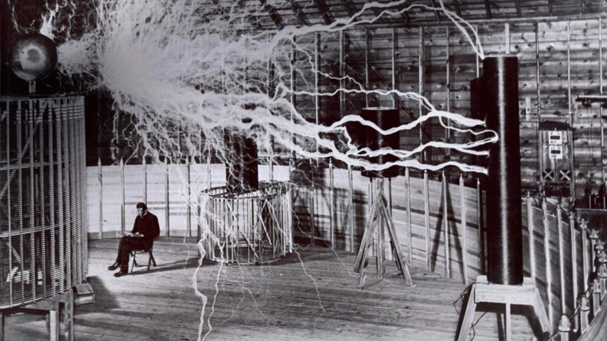 For Science Fiction Day, inventor Nikola Tesla and his 'magnifying transmitter'