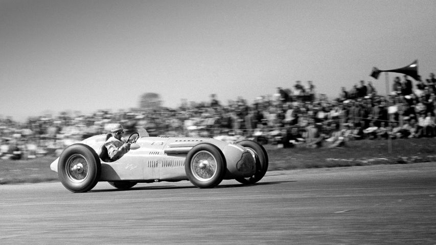 Action from the 1950 British Grand Prix at Silverstone