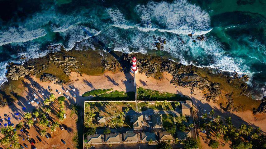 Itapuã Lighthouse in Salvador, Bahia, Brazil